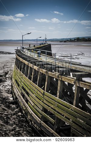 Old Wooden Pier At Sharpness