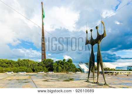 BRASILIA, BRAZIL - CIRCA MAY 2015: Square of the Three Powers in Brasilia, the capital of Brazil.