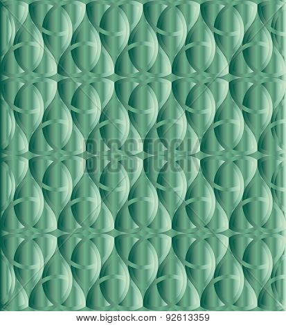 Caribbean Green Celtic Knot Background