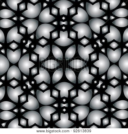 Abstract Lace Background With Gray-black Design
