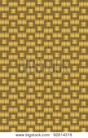 Dark Gold Wicker Background