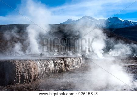Chile. Valley Of Geysers In The Atacama Desert