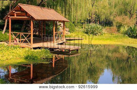 Landscape of West lake park. Hangzhou. China.
