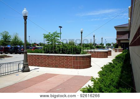 Lampposts and Planters