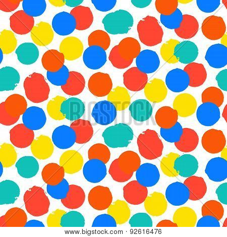 Ditsy vector polka dot pattern