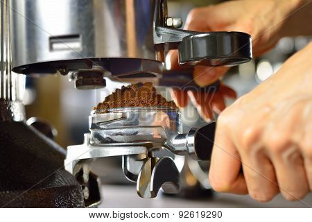 Making coffee