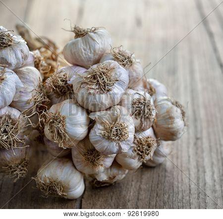 Garlic On Wooden