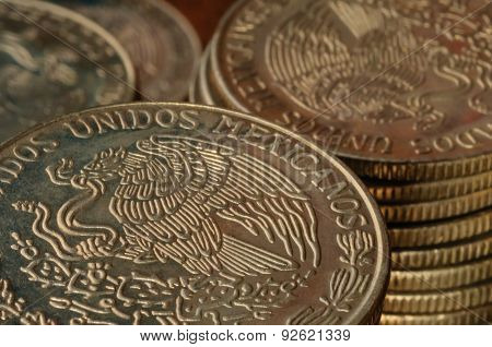 Old Mexican Peso Coins