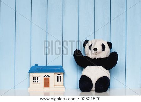 Toy House And Panda