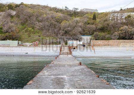 Southern Coast Of Crimea. Viiew Of Yalta City.