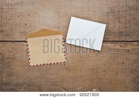 Old Envelope And Card