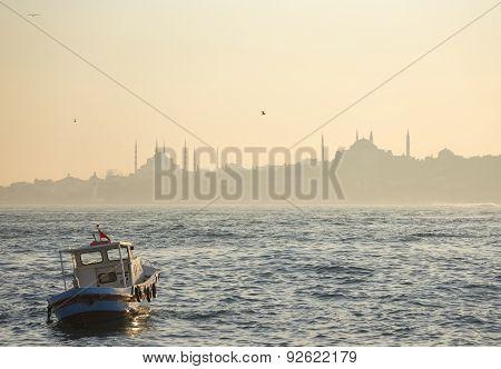 Bosphorus Strait In Istanbul, Turkey
