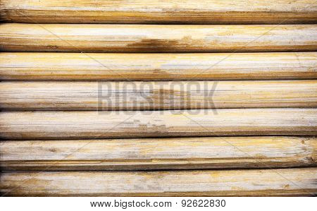 Grunge Yellow Bamboo Background And Texture