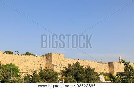 City Walls Of Jerusalem