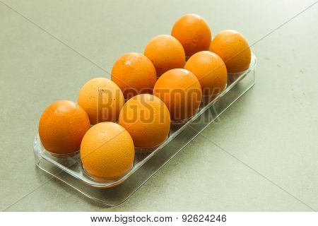 The Egg On Tray.
