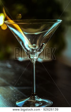 Martini Glass With Fire