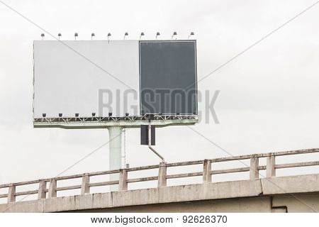 Blank Billboard For Advertising.