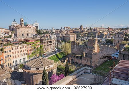 The Rome Cityscape In Italy