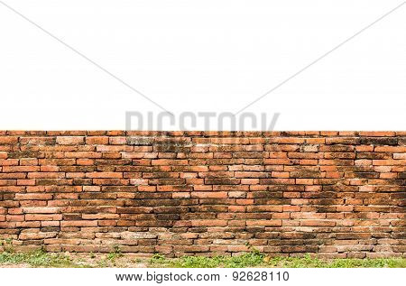 Old Fence Red Brick Wall Surface