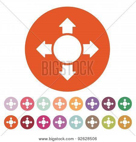 The Arrow Icon. Search Symbol. Flat