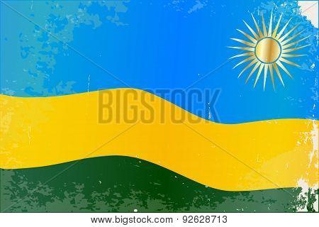 Rwanda Flag Grunge