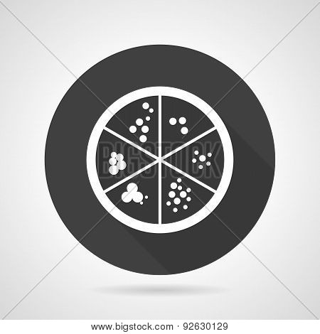Petri dish black round vector icon