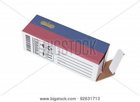 Concept Of Export - Product Of Lichtenstein