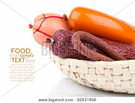 Variety Of Sausage Products