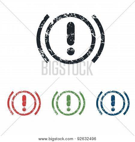 Alert grunge icon set