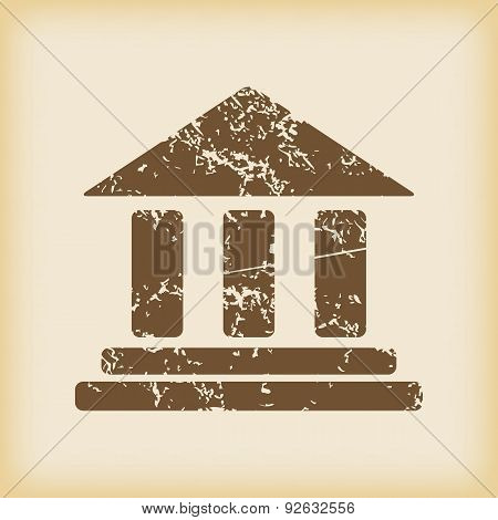 Grungy classical building icon