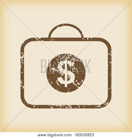 Grungy dollar bag icon