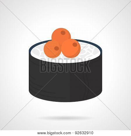 Maki sushi flat color vector icon