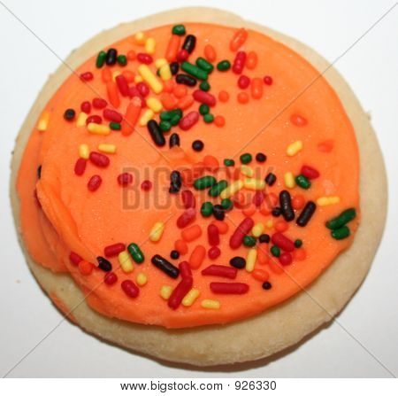 Frosted Cookie With Sprinkle