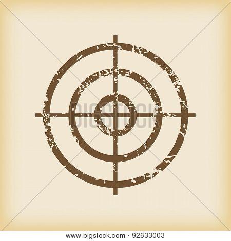 Grungy aim icon