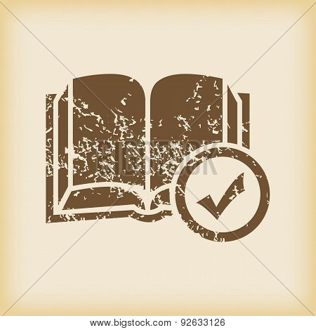Grungy select book icon