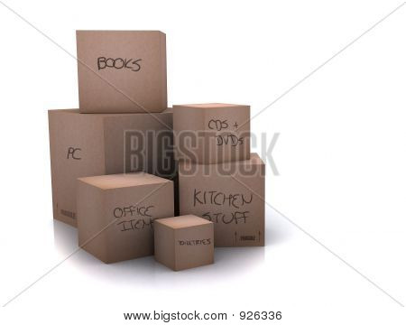Cardboard Boxes - Moving Homes