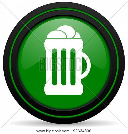 beer green icon mug sign