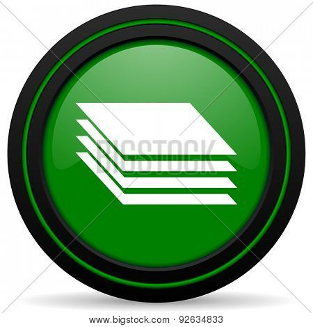 layers green icon gages sign