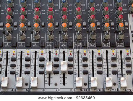 Audio Sound Console Recording Bar