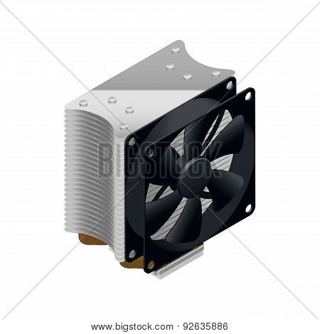 Heatsink For The Processor Detailed Isometric Icon