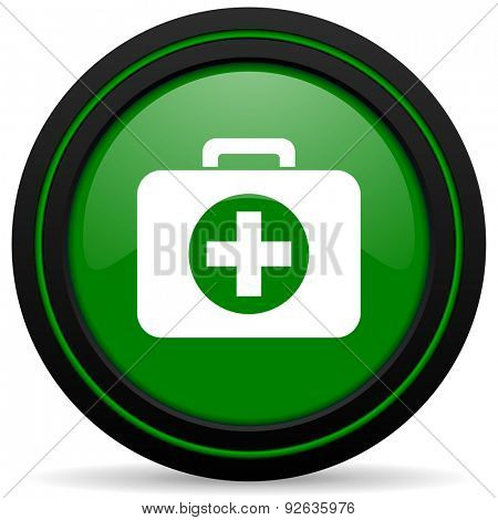 first aid green icon hospital green icon