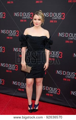 LOS ANGELES - JUN 4:  Taylor Spreitler at the