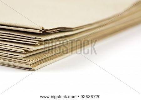 Brown Parcel Paper Folder Up