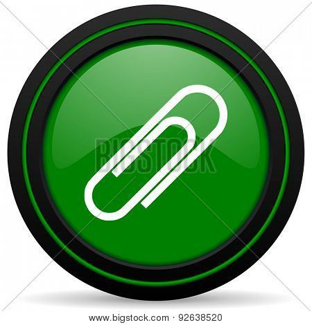 paperclip green icon
