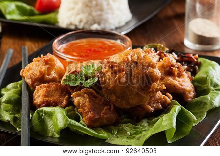 Fried Chicken Pieces In Batter