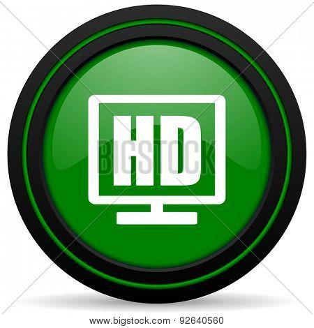 hd display green icon