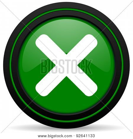 cancel green icon x sign