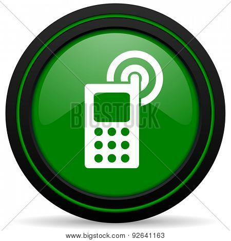 phone green icon mobile phone sign