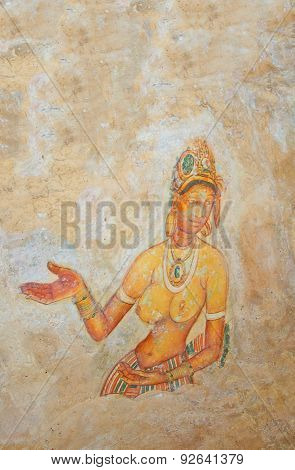 Sigiriya Rock Cave Wall Paintings, Sri Lanka