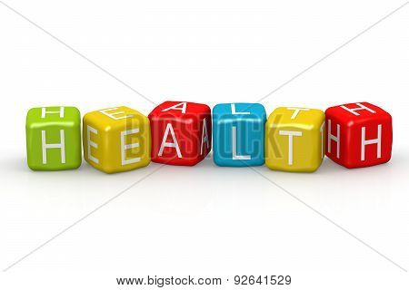 Health Colorful Buzzword